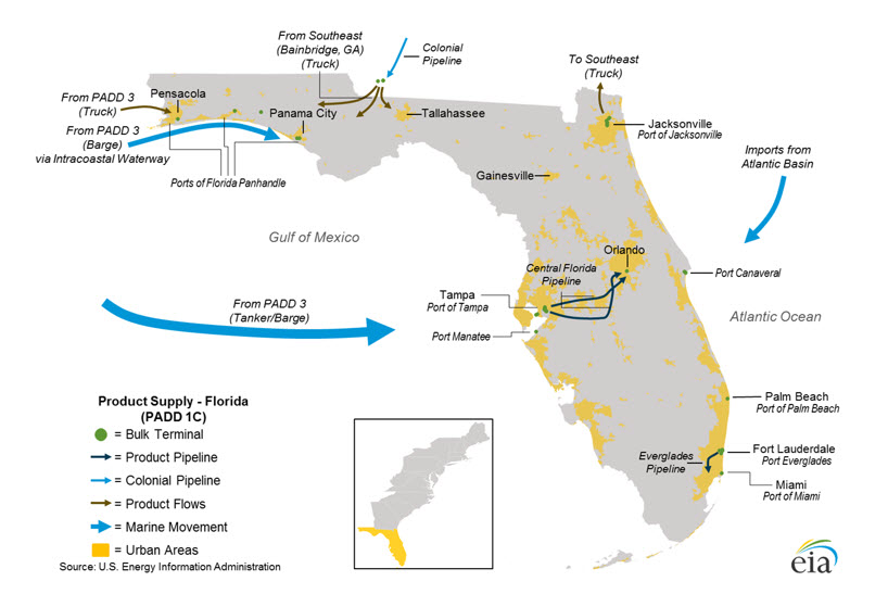 Florida West Coast Intracoastal Waterway Map.Hurricane Irma Prompts High Gasoline Demand As It Disrupts Florida S