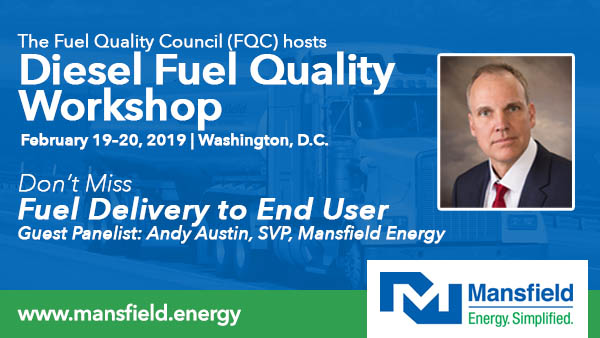 Mansfield to Present at Fuel Quality Workship