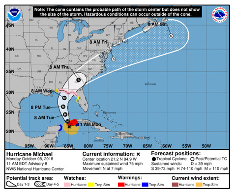 Hurricane Michael Brings Florida to Code Orange