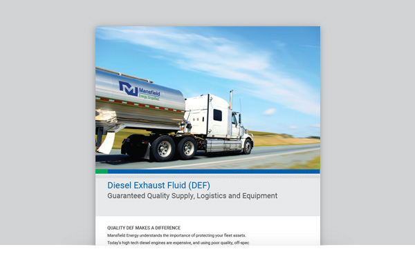 Mansfield Energy - DEF: Guaranteed Quality Supply, Logistics and Equipment