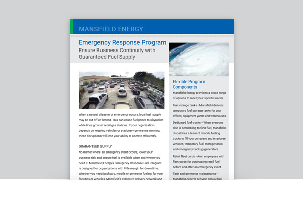 Emergency Response Fuel Program