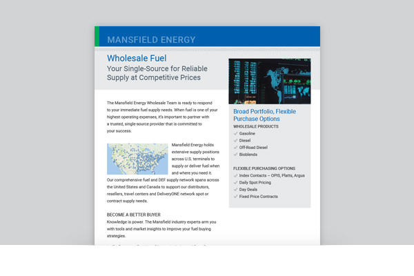 Wholesale - Mansfield Energy Corp